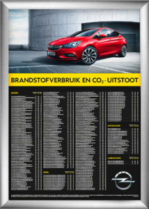 Fuel Economy Poster Frame Display Opel